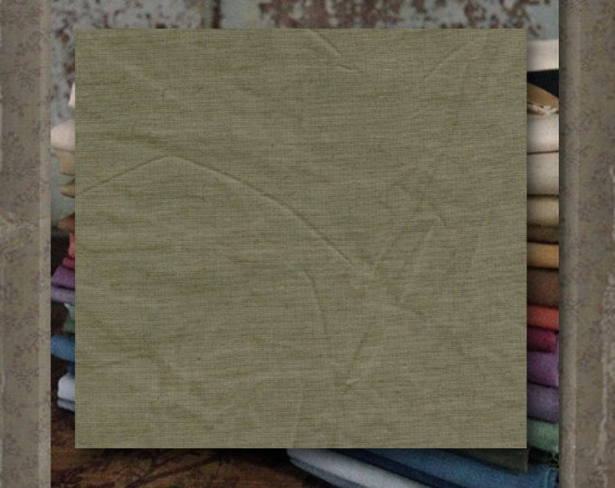 "Fabric 1 YARD: Aged Muslin Cloth (New) - Color ""Nile"" #7699-0114 Marcus Fabrics"