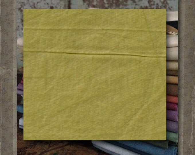 Fabric 1 YARD: Aged Muslin Cloth (New) - Celery #7702-0165 Marcus Fabrics