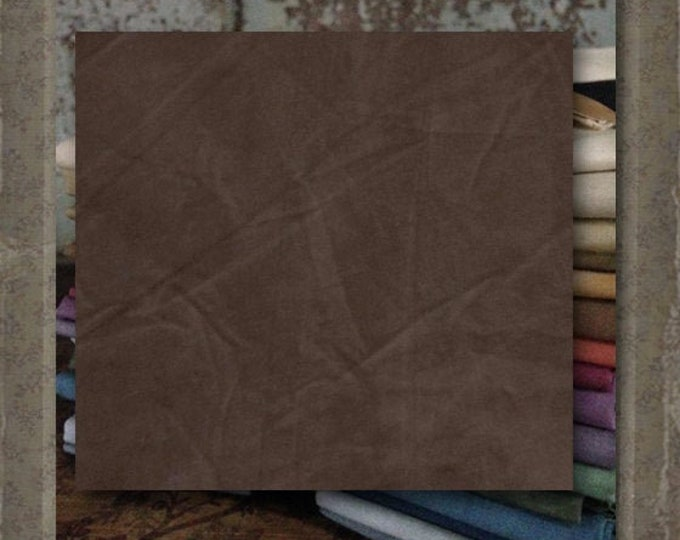Fabric 1 YARD: Over-dyed Aged Muslin Cloth (New) - Cocoa #7757-0113 Marcus Fabrics