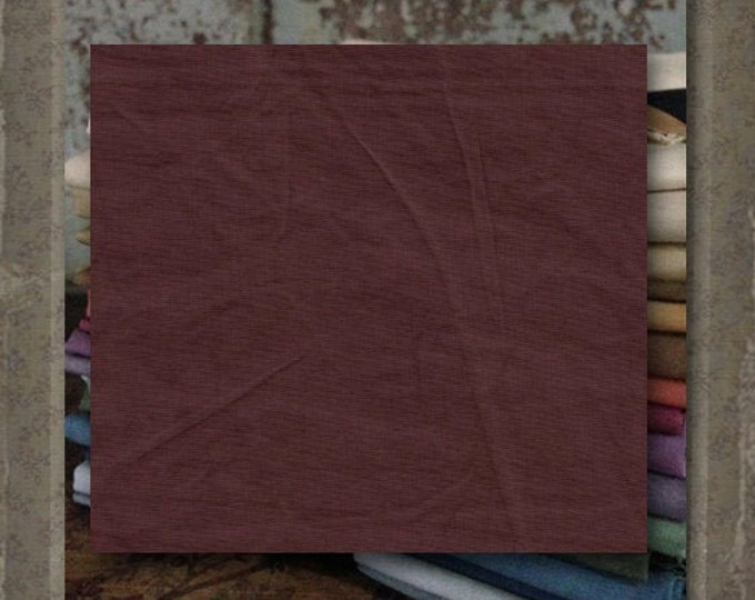 """Aged Muslin:""""Rare Wine"""" (new over-dyed cloth) -  Color #7713-0123 Marcus Fabrics"""