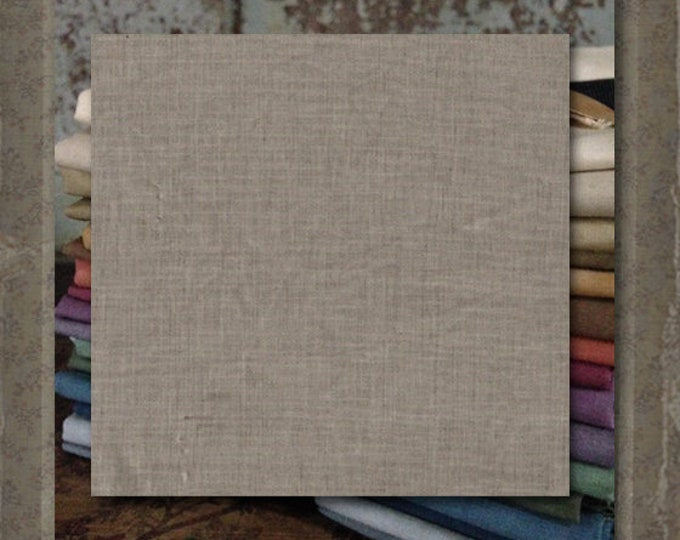 Fabric 1 YARD: Aged Muslin Cloth (New) - Pewter #7752-0190 Marcus Fabrics