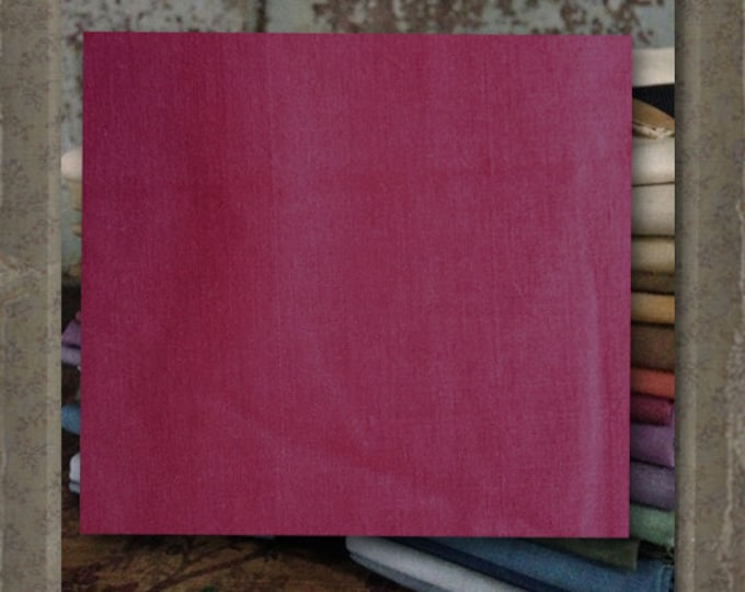 """Aged Muslin: """"Red Dawn"""" (new over-dyed cloth) Color #7715-0124 - Marcus Fabrics"""