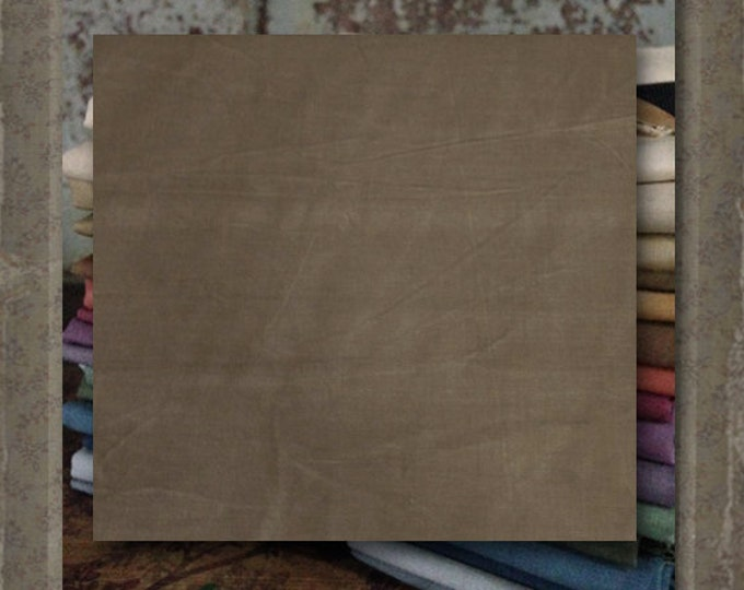"""Aged Muslin: """"Taupe""""  (new over-dyed cloth) - Color #Y141-138D  Marcus Fabrics"""