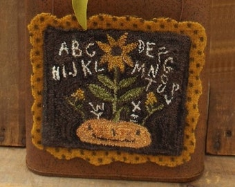 "Pattern: ""Pumpkin Sampler"" Punch Needle Pattern by Teresa's Primitive Treasures"