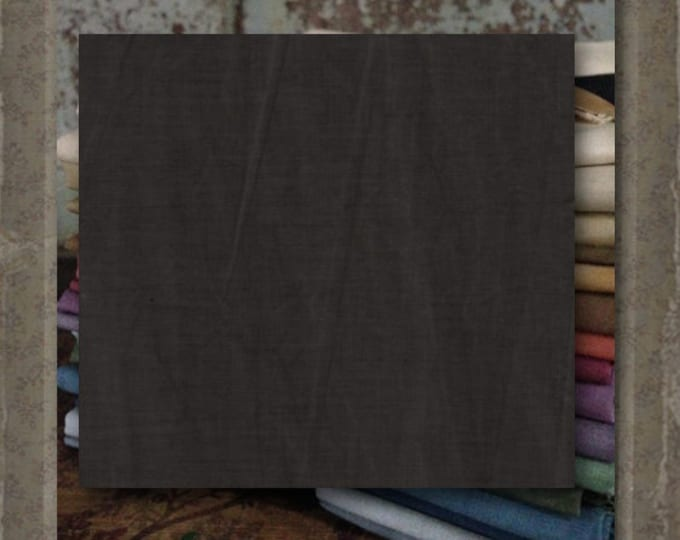 """Aged Muslin: """"Dk Gray-Brown"""" (new over-dyed cloth) - Color #7748- 0145 Marcus Fabrics"""