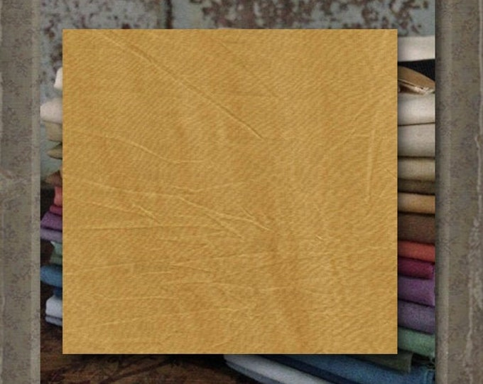 Fabric 1 YARD: Over-dyed Aged Muslin Cloth (New) - Mustard #7750-0132 Marcus Fabrics