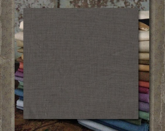 "Aged Muslin: ""Med Gray"" (new over-dyed cloth) - Color #9670 Marcus Fabrics"