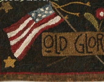 "Pattern: Rug Hooking Pattern ""Old Glory"" by Maggie Bonanomi for  Needle Love Designs"