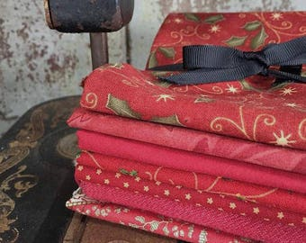 Fabric: Bundle FQ 7pc - Christmas