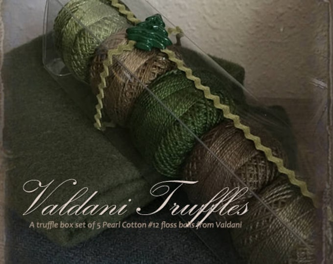 "Valdani Thread: Gift Set/5 Perle Cotton Embroidery Thread Balls - ""Northwest Pines"" Collection"