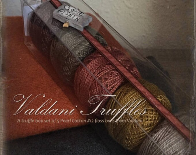 "Valdani Thread: Gift Set/5 Perle Cotton Embroidery Thread Balls - ""Gone Fishin"" Collection"