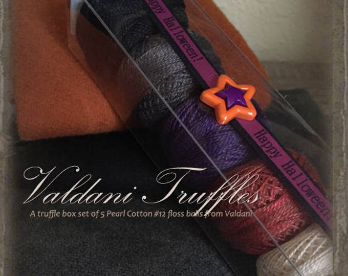 "Valdani Thread: Gift Set/5 Perle Cotton Embroidery Thread Balls - ""Halloween Treats"" Collection"