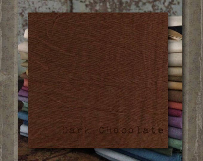Fabric 1 YARD: Over-dyed Aged Muslin Cloth (New) - Dark Chocolate NEW! Color0113 Marcus Fabrics
