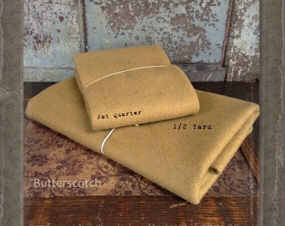 Wool:  Fat Quarter 100% Wool - BUTTERSCOTCH - Marcus Fabrics