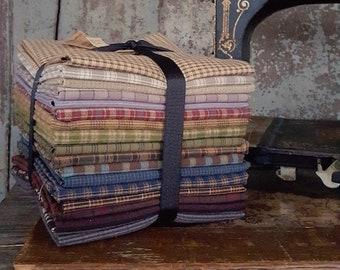 Fabric: Bundle Half Yard Homespuns 17pc Sampler