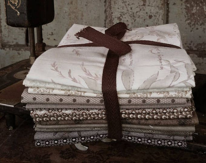 Fabric: Bundle FQ 12pc - Shades of Taupe