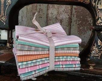 Fabric: Bundle FQ Homespun 10pc - Pastels