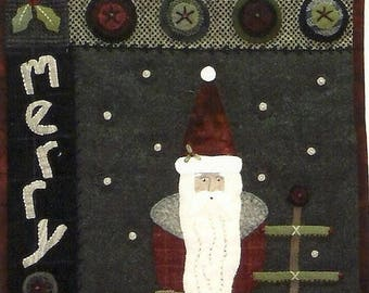 Pattern: Merry Merry Wall Hanging and Standing Santa by Heart to Hand