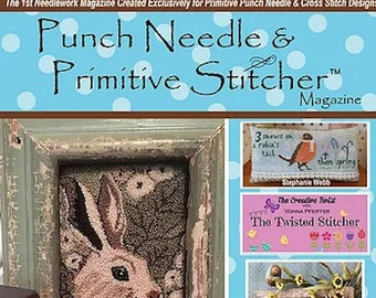 Magazine: Spring 2017 Back Issue - Punch Needle and Primitive Stitcher