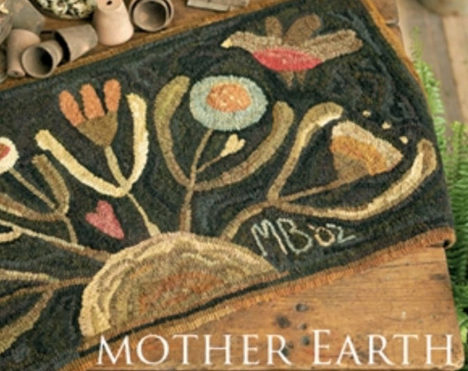 """Pattern: Rug Hooking Pattern """"Mother Earth"""" by Maggie Bonanomi for  Needle Love Designs"""