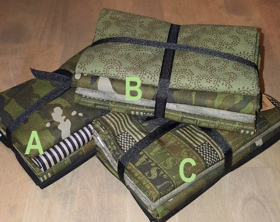 Fabric: Bundle HALF YARD 4pc Sampler- Armed Forces Collection