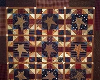 Pattern: Old Ben's Bonnet Quilt Pattern by Primitive Pieces by Lynda
