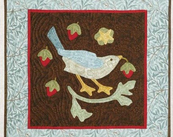 Pattern: Strawberry Thief Quilt Pattern - by Hot Off the Press