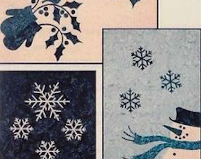 "Pattern: ""Winter Trio"" Tablerunners Quilt Pattern by Laundry Basket Quilts"