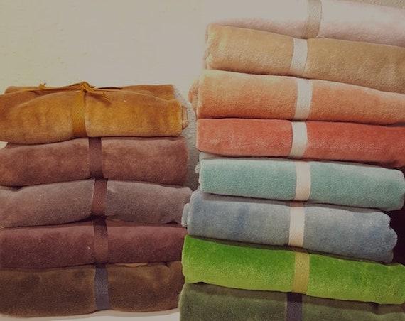 Velvet Fabric: FQ Hand Dyed Velvet - retired colors