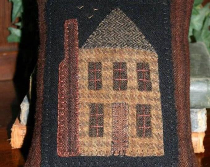 Pattern: Little House Pillow Wool Applique Pattern by Cricket Street Wool
