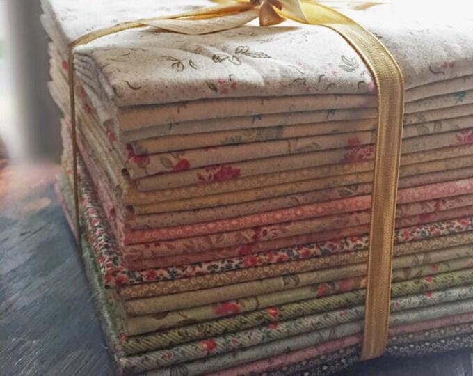 "Fabric: HALF YARD  22 pc. Sampler Bundle "" Petite Floral Bouquet"""