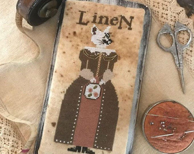 Pattern: Cross Stitch - Miss Linette Lynn Linen  by The Primitive Hare