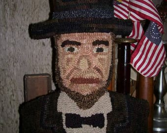 Pattern: Hooked Rug Abe Lincoln by Hooked on Primitives