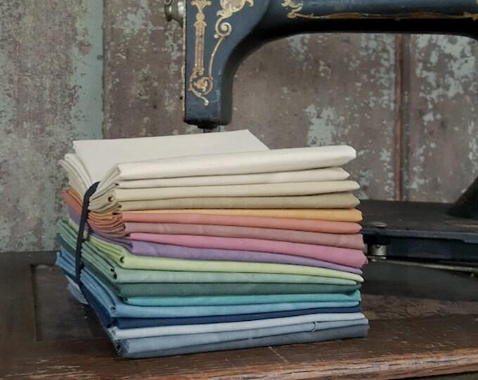 Fabric: Fat Quarter Bundle Aged Muslin Cloth 18 pc.
