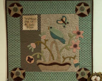 Pattern: The Bluebird Sings Quilt Pattern by Briar Root Primitives