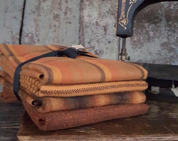 "Fabric: Bundle Half Yard 4pc Flannel ""Pumpkin"" Sampler by Marcus Fabrics"