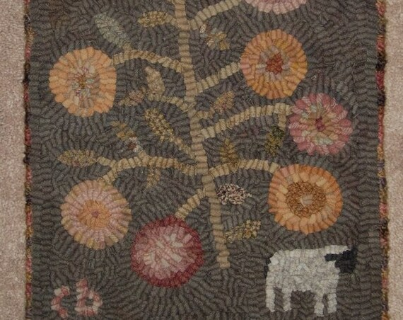 "Pattern: Primitive Rug Hooking Pattern - ""One Sheep"" from Baskets of Wool"