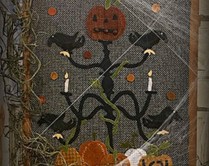 """Pattern: """"Chilling Candelabra"""" Wool Appliqué by 1894 Cottonwood House"""