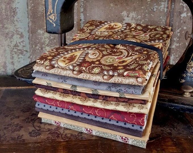 "Fabric: Bundle HALF YD 11pc Sampler - ""Paisley n Horses"""