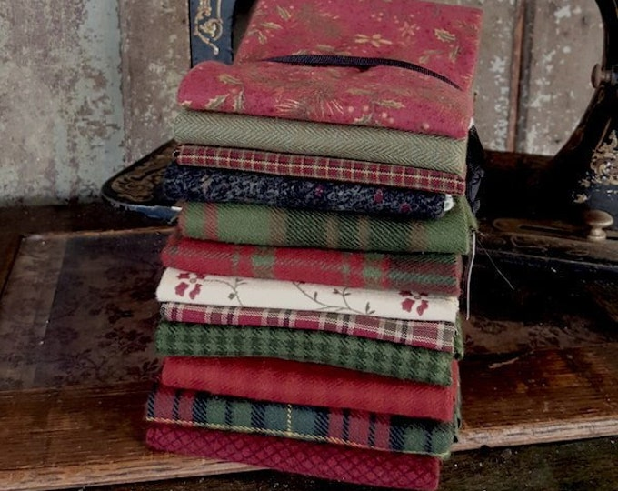Fabric: Bundle FQ 12 Days of Christmas - Marcus Brothers Primo Plaids, Moda & More