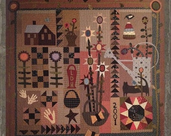 """Pattern: """"A Little Porch Time"""" Quilt Pattern by Primitive Pieces by Lynda"""