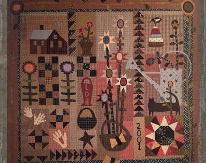 "Pattern: ""A Little Porch Time"" Quilt Pattern by Primitive Pieces by Lynda"