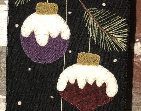 """Pattern: Wool Applique """"Skinnies in the Pines"""" by Front Porch Quilts"""