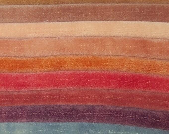 Velvet Fabric: Hand Dyed Velvet Fat Quarters - new hues