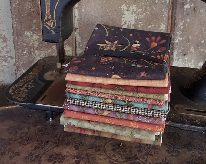 "Fabric: Bundle FQ - ""Autumn Folk Art"" Collection"