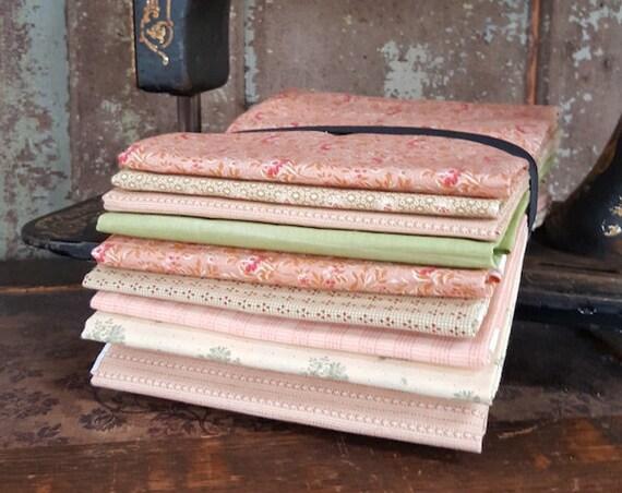 """Fabric: Bundle HALF YD 9pc Sampler - """"Spring Florals"""""""