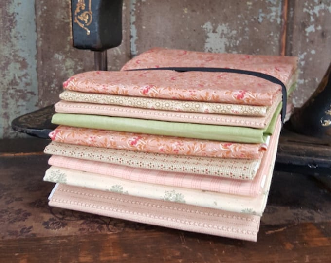 "Fabric: Bundle HALF YD 9pc Sampler - ""Spring Florals"""