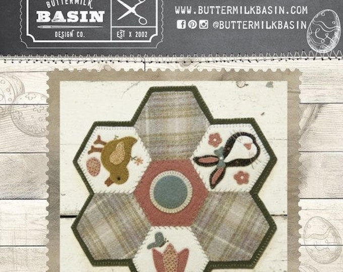 Pattern & Button Kit: April Hexi Mats thru the Year - by Buttermilk Basin