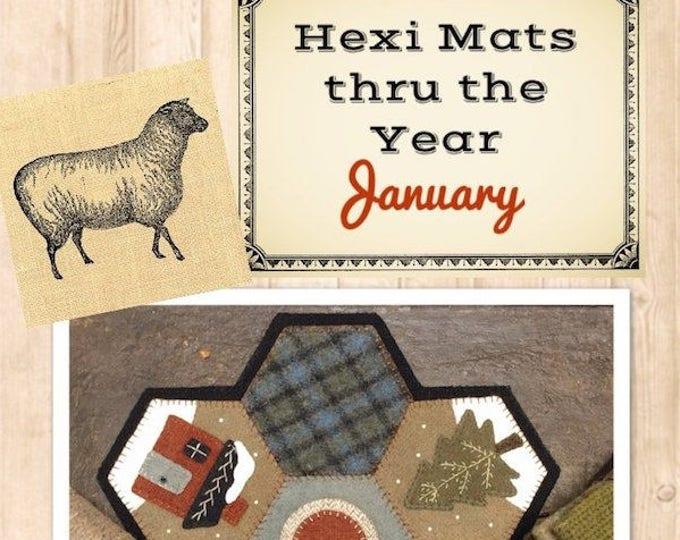 Pattern: Hexi Mats thru the Year - January by Buttermilk Basin