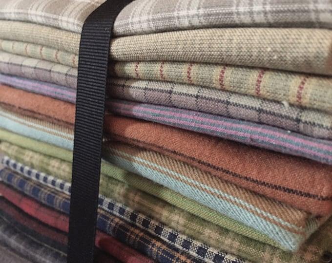 Fabric: Bundle Half Yard Homespuns 15pc Sampler
